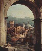 Римское каприччио, городские ворота и сторожевая башня. Деталь (1747)