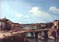 Турин, вид с северо-востока на античный мост над По (1745)