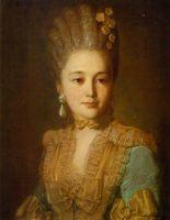 Портрет неизвестной в голубом платье с желтой отделкой. 1760-е