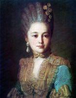 Портрет неизвестной в голубом платье с желтой отделкой. 1760-е (2)