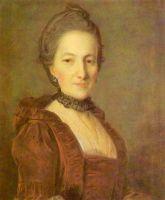 Портрет неизвестной в темно-красном платье. 1760-е