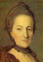 Портрет неизвестной в темно-красном платье. 1760-е. Фрагмент