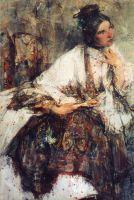 M-lle Сапожникова (в шали) (1908)