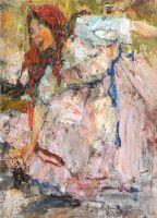 Баба в красном платке. Этюд к картине Обливание (1911 — 1914)