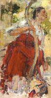 Баба с коромыслом. Этюд к картине Обливание (1914)