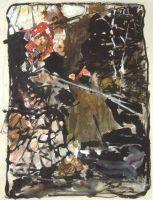 Бунт. Композиция с женской фигурой в красном платке (Сер. 1900-х)