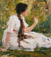 Весна в степи (Портрет А.Н.Фешиной) (1913)