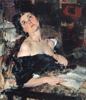 Дама в черном (Портрет А.Н.Фешиной) (1924)