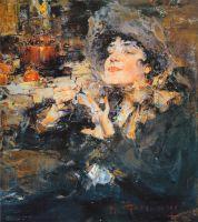Дама за маникюром (Портрет m-lle Жирмонд) (1917)