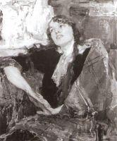 Девушка с клетчатым платком (1915)