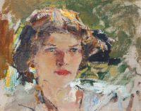 Женская головка (Портрет Натальи Подбельской). Этюд (1910)