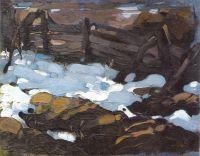 Зимний пейзаж (с плетнем) (1900-е)