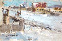 Зимний пейзаж. Этюд (1917)