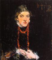 Коралловые бусы (Портрет Александры Белькович) (1910)