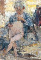Мальчик с голым животом. Этюд к картине Обливание (1911 —1914)