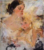 Миссис Фешина с дочерью (1922)