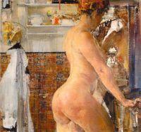 Обнаженная в ванной комнате (1916)