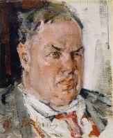 Портрет Д.Д.Бурлюка. Этюд (1923)
