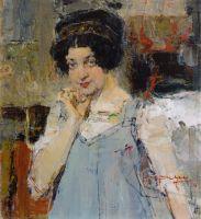 Портрет жены архитектора Сидорченко (1915)