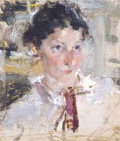 Портрет Н.Н.Кротовой. Этюд (1923)