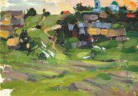 Сельский пейзаж. Этюд (1900-е)