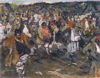 Черемисская свадьба. Эскиз (1908) 3