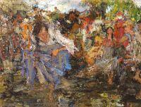 Эскиз к картине Обливание (1914)