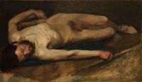 Обнажённый мужчина (1856) (34.9 х 61.6) (Нью-Йорк, Метрополитен)
