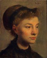 Голова молодой женщины (ок.1867) (Париж, музей Орсэ)