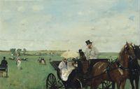 На гонках в сельской местности (1869) (36.5 х 55.9) (Бостон, Музей изящ.искусств)