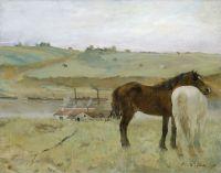 Лошади на лугу (1871) (31.8 х 40) (Вашингтон, Нац. галерея)