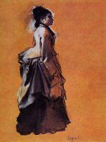 Молодая женщина в платье на улице (1872) (Гарвардский универ-т, музей Фогга)