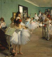 Танцевальный класс (1874) (83.5 х 77.2) (Нью-Йорк, Метрополитен)