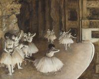 Репетиция балета на сцене (1874) (65 х 81) (Париж, музей Орсэ)