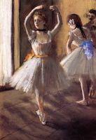 Две танцовщицы в классе (танцевальная школа) (ок.1875) (частная коллекция)