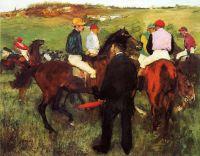 Скаковые лошади на longchamp (1875) (Вашингтон, Национальная галерея)