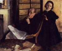 Портрет Анри де Га и его племянницы Люси де Га (1876) (Чикаго, Институт искусств)
