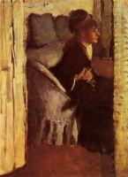 Женщина, надевающая перчатки (ок.1877) (частная коллекция)