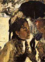 Тюильри, женщина с зонтиком (1877) (Глазго, коллекция Баррелла)