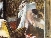 Женщина, вылезающая из ванны (1877) (Париж, музей Орсэ)