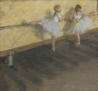 Танцовщицы, тренирующиеся у барьера (1877) (75.6 х 81.3) (Нью-Йорк, Метрополитен)