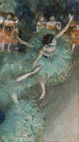 Танцовщицы в зелёном (1877-1879) (64 х 36) (Мадрид, Музей Тиссена-Борнемисы)