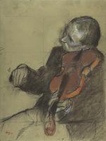 Скрипач (эскиз для 'Урока танца') (ок.1878-1879) (Нью-Йорк, Метрополитен)