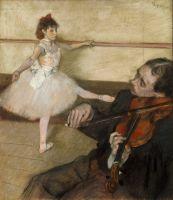 Урок танца (1879) (64.5 х 56.2) (Нью-Йорк, Метрополитен)