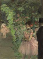 Танцовщицы за кулисами (1876-1883) (24.2 х 18.8) (Вашингтон, Нац. галерея)