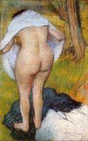 Вытирающаяся девушка (1885) (80.1 х 51.2) (Вашингтон, Национальная галерея)