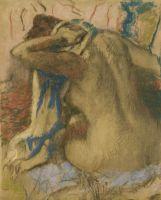 Женщина, просушивающая свои волосы (1885) (частная коллекция)