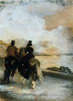 Два всадника на озере (ок.1860) (Париж, Национальная библиотека Франции)