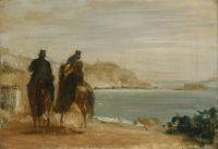 Набережная рядом с морем (ок.1860) (Лондон, Нац. галерея)
