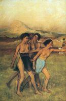 Упражнения юных спартанцев (эскиз) (1860) деталь
